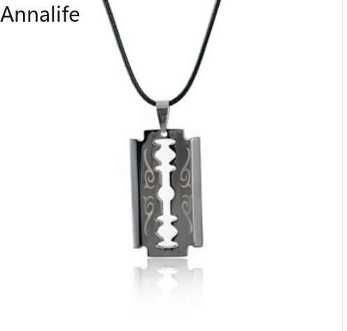 2019 Unisex Stainless Unique Steel Razor-Blade Shaped Pendant Hip Hop Dog-Tag Necklace Brand New Pendant