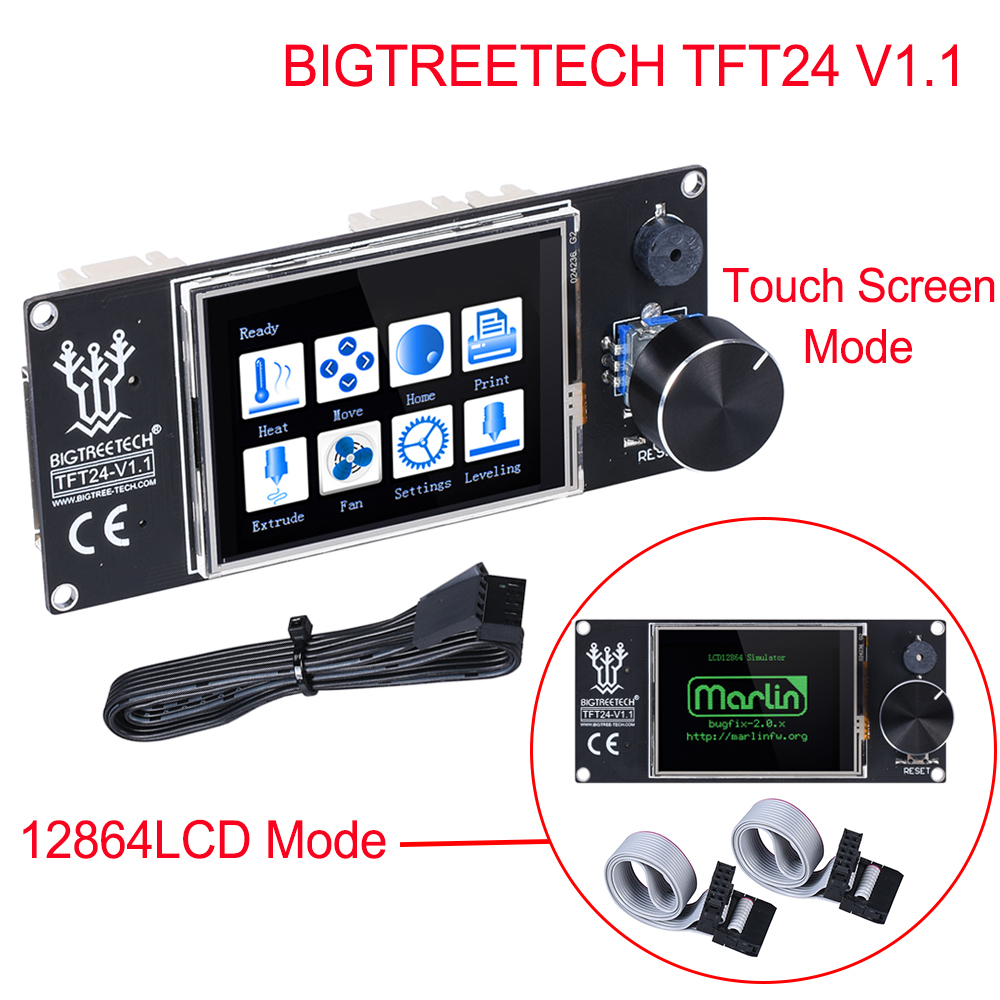 BIGTREETECH TFT24 V1.1 Touch Screen/Like 12864 LCD Display 3D Printer Parts For Ender 3 SKR V1.3 PRO MINI E3 VS MKS TFT24 TFT35