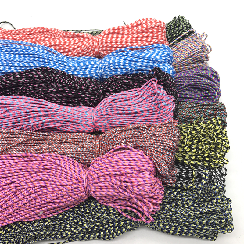 10Yards/Lot 2mm Parachute Cord Lanyard Rope Mil Spec Type One Strand Climbing Camping Survival Equipment DIY Jewelry Making(China)