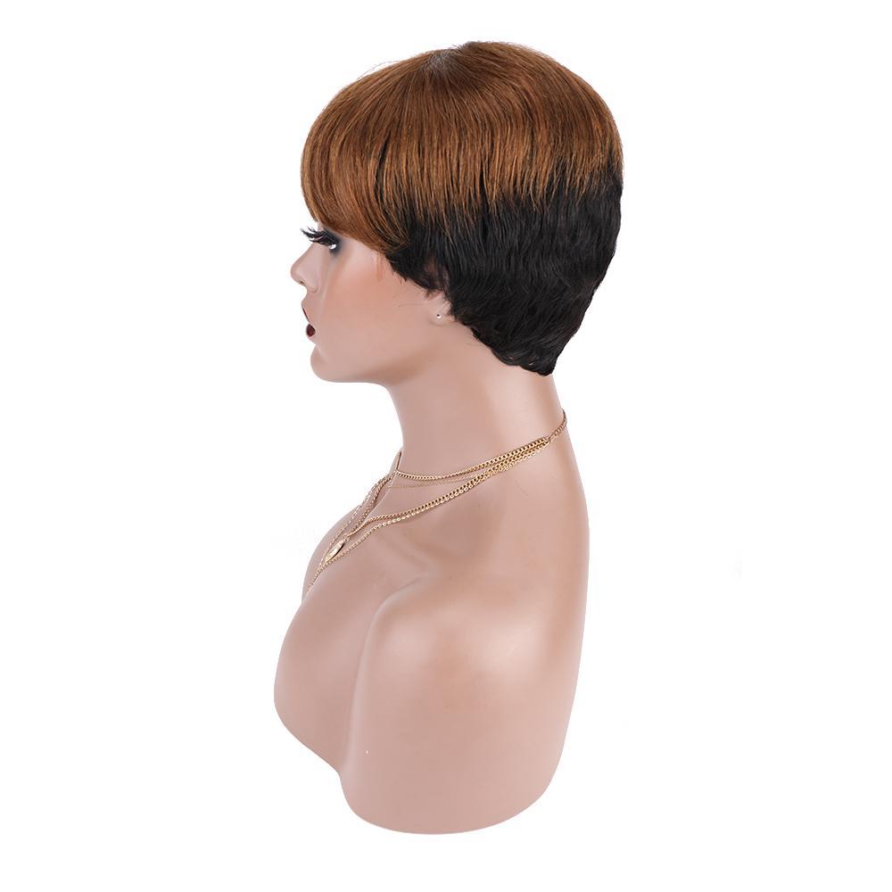 Cabelo humano curto peruca de cabelo brasileiro