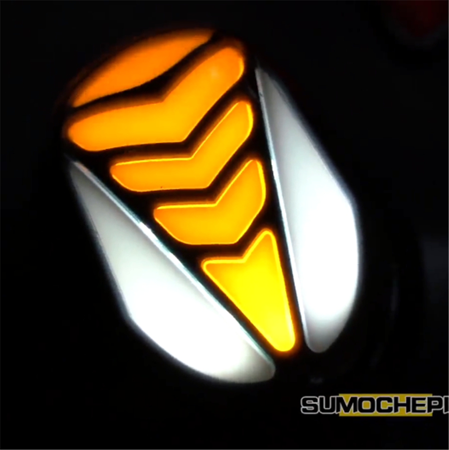 4Pcs Motorcycle DRL Flowing LED Turn Signal Indicator Stop Braking Taillight Light Yellow Red White