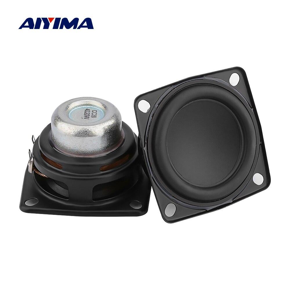 Aiyima 2 pçs 2 Polegada unidade de alto-falante áudio gama completa 53mm 4 ohm 20 w alto-falante estéreo alta fidelidade bluetooth diy casa amplificador alto-falante