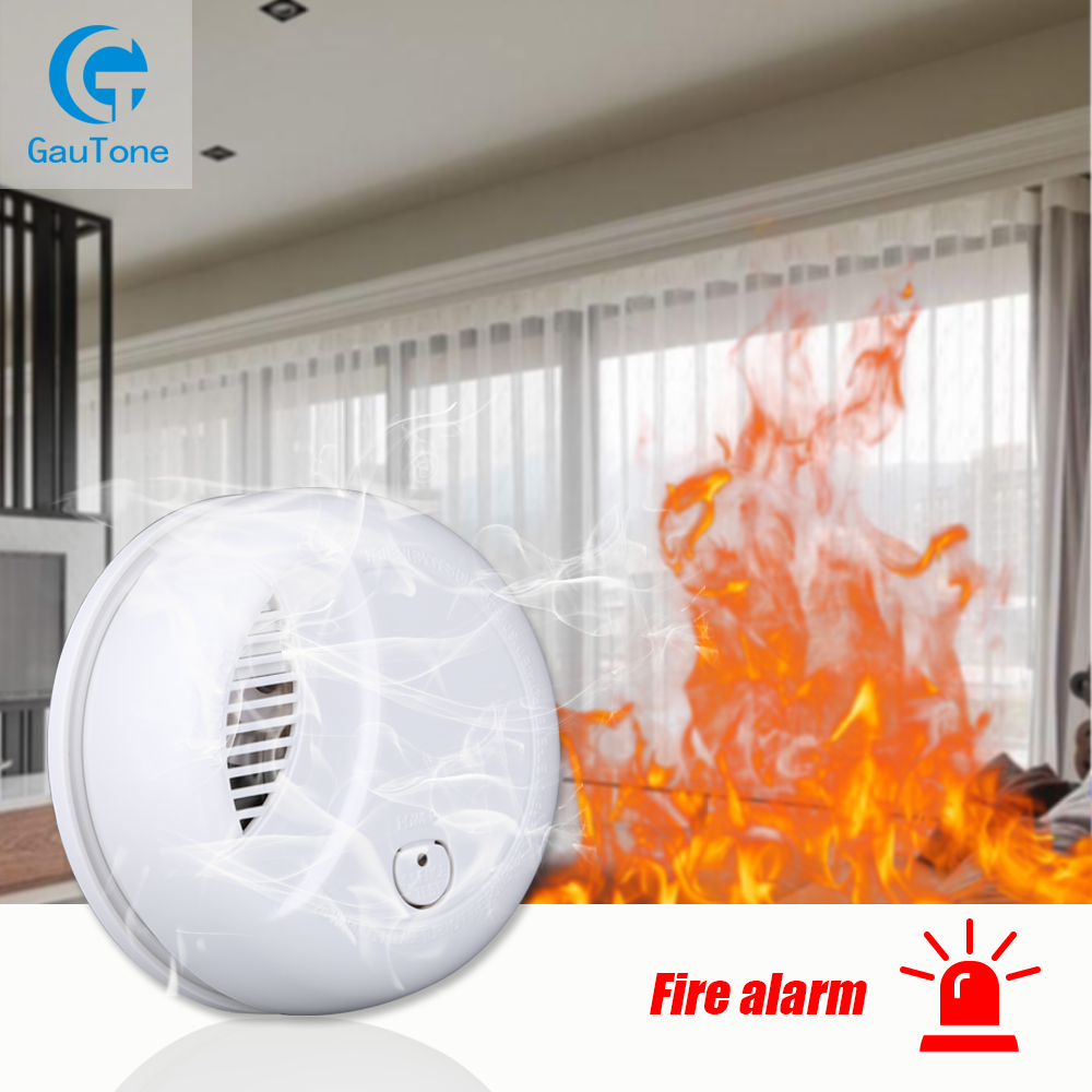 Independent Alarm Smoke Detector Home Security Wireless Fire Smoke Sensitive Detector Portable Alarm Sensors Fire Equipment