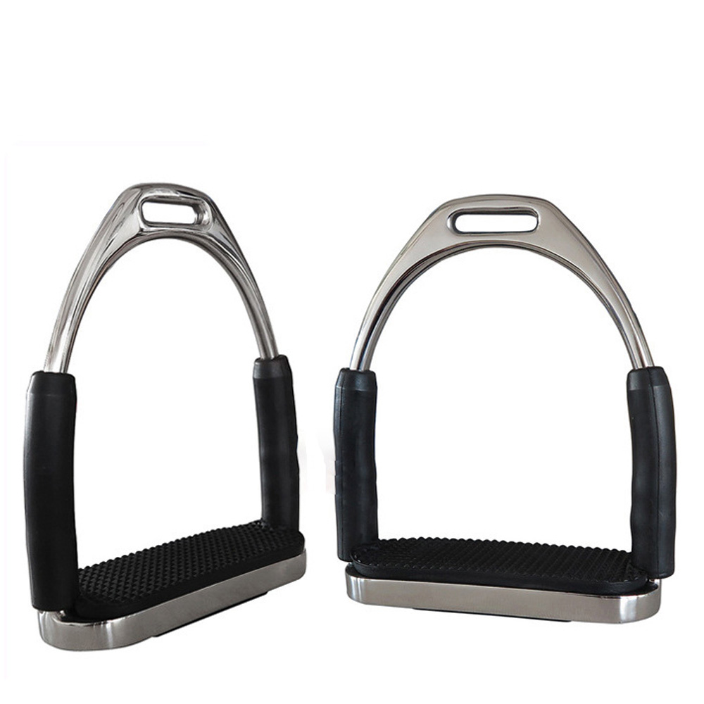1Pair/2Pcs Flexible Anti Slip Racing Stainless Steel Stirrups Saddle Pedals Safety Horse Riding Device