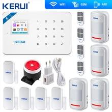 Kerui W18 אלחוטי Wifi GSM מעורר מערכות אבטחת IOS APP GSM SMS פורץ אזעקה מערכת תנועה חיישן רוסית מחסן