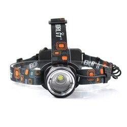 BORUiT RJ 2190 XML T6 lampa czołowa led 3 Zoom reflektor wysokiej mocy 3000LM czołówka 18650 akumulator latarka myśliwska|Latarki czołówki|   -