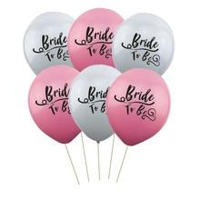 10 Pcs Pink and White Theme Bride To Be Latex Balloon Bachelorette Hen Party Bridal Shower Wedding Decor Supplies цена и фото