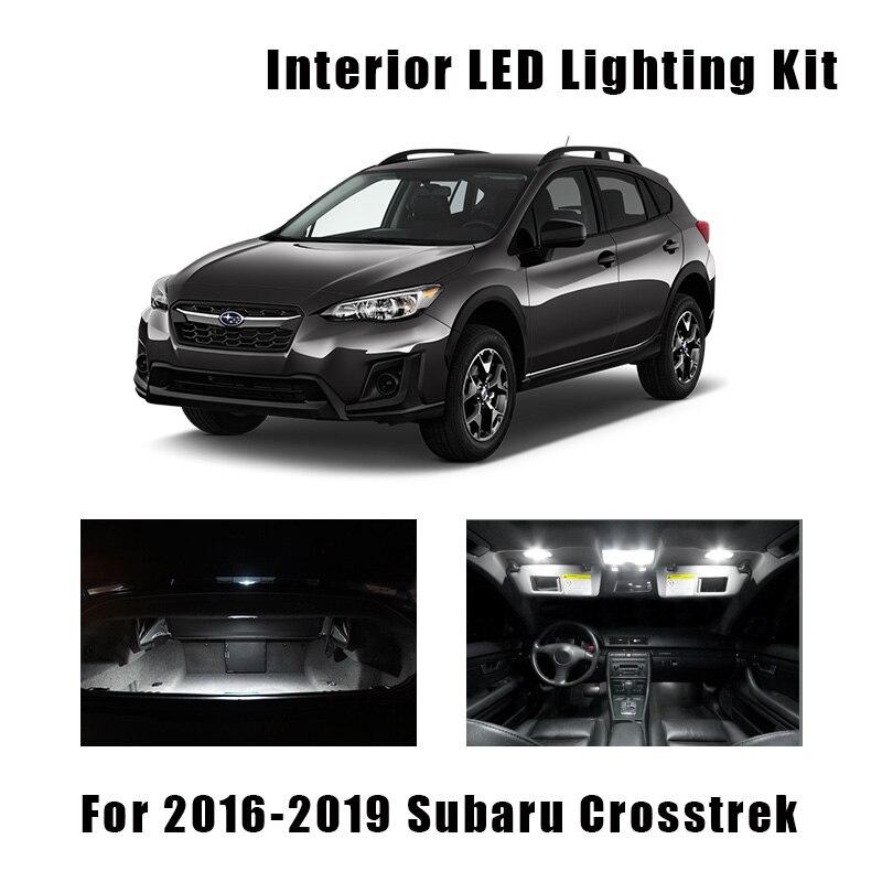 8pcs White Car LED Bulbs Interior Map Dome Light Kit Fit For 2016 2017 2018 2019 Subaru Crosstrek Trunk Cargo License Plate Lamp