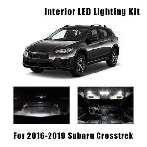 8pcs White Car LED Bulbs Interior Map Dome Light Kit Fit For 2016 2017 2018 2019 Subaru Crosstrek Trunk Cargo License Plate Lamp(China)