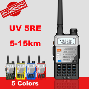 Baofeng UV-5RE Walkie Talkie 10km UHF VHF Portable CB Ham Radio Station 128CH Two Way Radio boafeng UV-5RE Upgrade Baofeng UV 5R