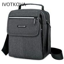 Ivotkova bolsa de ombro masculina, de ombro, moda masculina, multifuncional, com bolsos, de zíper, para lazer, de negócios e de corpo