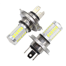 1PC H4 H7 LED Headlight 33SMD 5630 12V White Car Fog Light Driving Lamp Bulb Luminous Flux 800 lm Color Temperature 6000~6500k