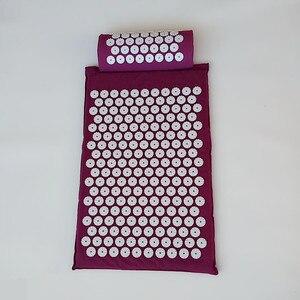 Image 2 - Massager almofada (62*38cm) conjuntos de acupuntura esteira de acupressão com almofada de massagem travesseiro massagem e relaxamento