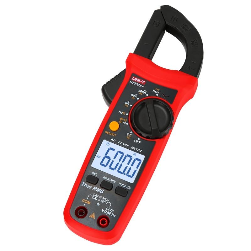 T Capacitance Ammeters Series Temperature  AC True LCD RMS Clamp Resistance Tester Meter Clamp Voltage NCV DC Digital UNI Ut204