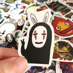 Image 2 - 50 Pcs/Lot Japanese Movie My Neighbor Totoro Cute Stationery Stickers for Car Laptop Notebook Luggage Decal Fridge Skateboard