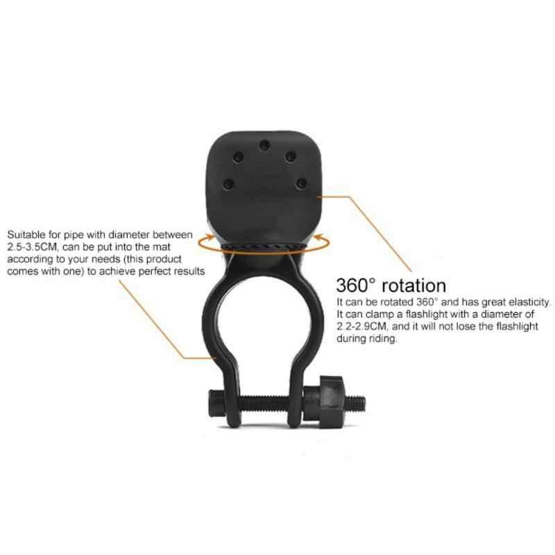 Soporte de Clip de bicicleta giratoria de 360 grados para lámpara de linterna soporte de luz delantera de bicicleta # SD