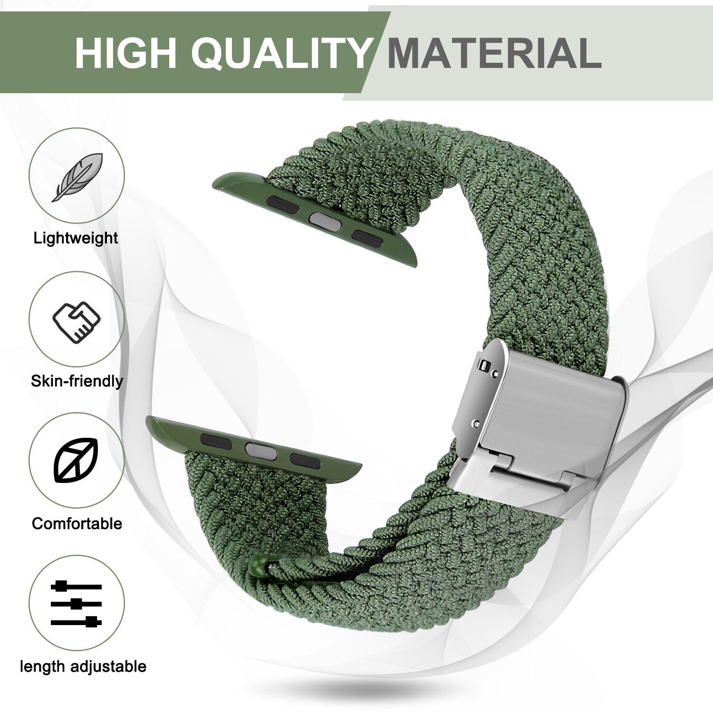 Ремешки для часов Apple 44 мм 40 мм 38 мм 42 мм, ремешки для iWatch для женщин и мужчин, регулируемая плетеная соло-петля