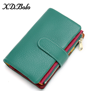 XDBOLO Women's Wallet Short Women Coin Purse Fashion Wallets For Woman Card Holder Ladies Wallet Female Hasp Clutch For Girl(China)
