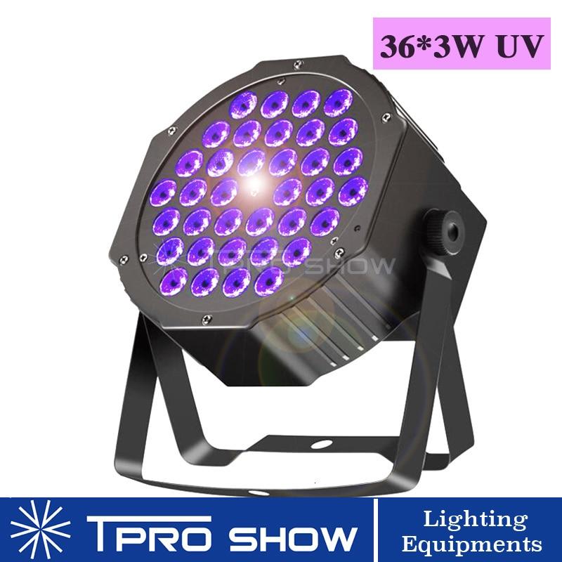 Black Light UV Disco Lamp Dmx512 LED Par Light Mini Stage Lighting Effect Ultravioltet Projector For Home Party Static Strobe UV