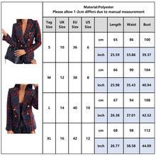 Plaid Double Breasted Blazer Jackets RK