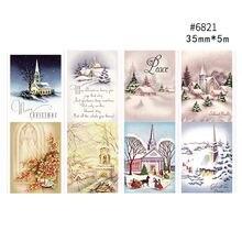 Рождественская серия лента washi Праздничная олень Васи бумажная