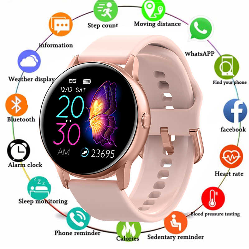 Reloj inteligente IP68 impermeable con Bluetooth para Apple IPhone xiaomi, Monitor de ritmo cardíaco LG, rastreador de Fitness PK Q9 S9 para mujer