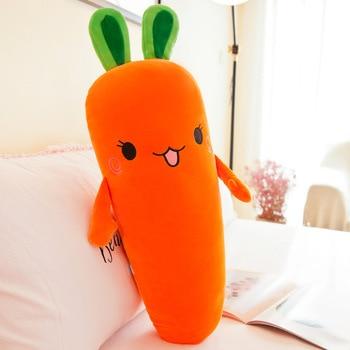 40CM Cartoon Smile Carrot Plush Toy Cute Simulation Vegetable Carrot Pillow Dolls Stuffed Soft Toys for Baby Children Gift 1pc 45 40cm simple pikachu pillow cushion plush toy dolls decorative pillows cartoon plush toys