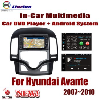 Car Android System Android 8 Core A53 Processor IPS LCD Screen For Hyundai Avante 2007~2010 Radio DVD Player GPS Navi