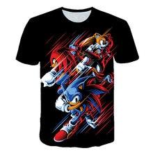 Children Clothes Summer Short Tee Anime Sonic 3D Cartoon Printed T shirt For Boys Girls Popular Kids Boy Tshirt 3 -14YEAR