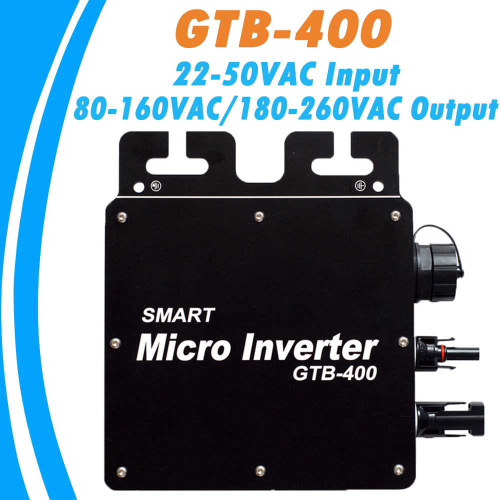 <font><b>400W</b></font> 22V-50VDC Input 80-160VAC/180-260VAC Output MPPT Wireless Inverter Grid Tie Micro Inverter With WIFI mode Waterproof IP65 image