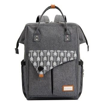 Lekebaby Nappy Changing Bag Backpack Fashion Mummy Maternity Large Capacity