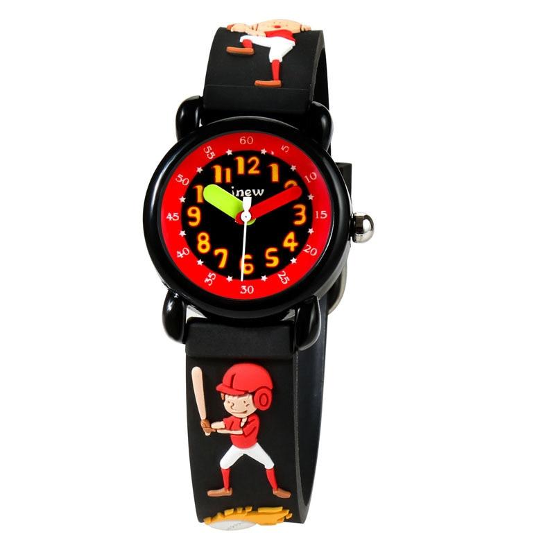 Children's Watches JNEW Brand Cute Simple Cartoon Waterproof 3D Silicone Quartz Watches Student Wristwatches