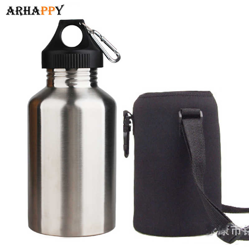 2L Durable Travel Stainless Steel Tea Water Bottle Carrier Insulated Bag Pouch