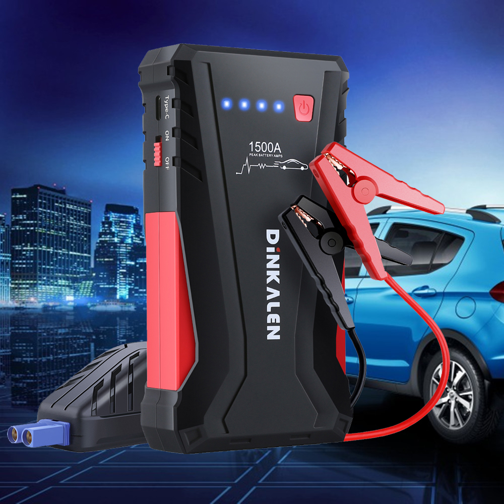 High Power 1500A Starting Device Portable 12V Car Jump Starter Car Battery Booster Charger Petrol Diesel Car Power Bank