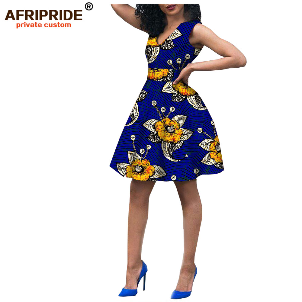 African Mini Dresses For Women African Clothing Robe Africaine Bazin Riche Maxi Dress For Sexy Lady A722523