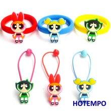 Cute Cartoon Blossom Bubbles Buttercup for Children Kids Gift Girls Elastic Hair Band Hair Ring Hair Rope Soft PVC Accessories