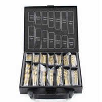 Hole Opener Iron Box packing 99PCS HSS Twist Drill Bits Set 1.5-10mm Titanium Coated Surface 118 Degree For Drilling woodworking