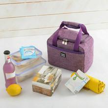 Francuski przyjaciel przenośna torba na Lunch izolacja termiczna pudełko na Lunch Tote Cooler torebka torba Bento obiad pojemnik na śniadaniówka tanie tanio POLIESTER CN (pochodzenie) 2 OSOBY