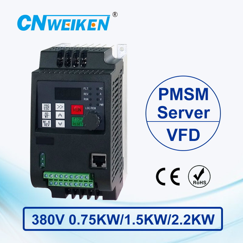 wk600B Vector Control frequency converter 0.75kw/1.5kw/2.2kw  Three-phase 380V Permanent magnet synchronous motor variable frequency speed control controller servo drive