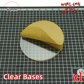 TRANSPARENT / CLEAR BASES for Miniatures - 60mm round clear bases - sale item Building & Construction Toys