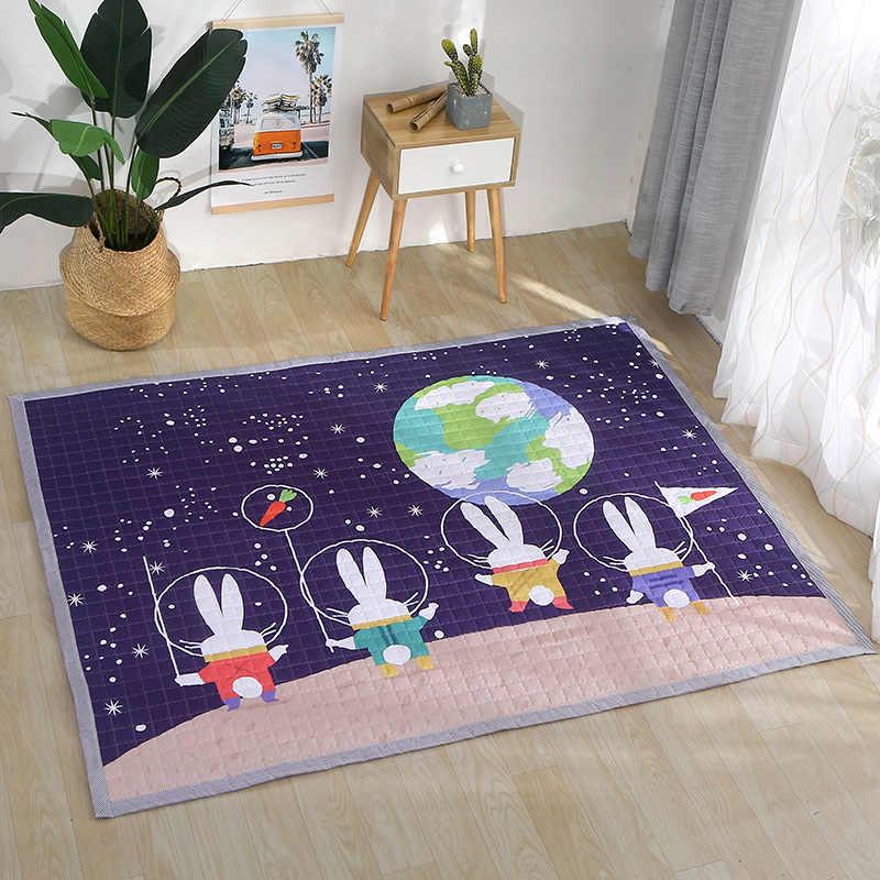 Европейский ковер 150*200 см, напольный коврик с лебедем, Противоскользящий коврик для гостиной, коврик с кроликом, домашний коврик в стиле пэчворк, детский фиолетовый игровой коврик для девочек