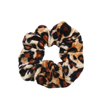 Spring Hair band Smooth Animal Velvet hair Scrunchies Leopard Print Houndstooth patterns autumn winter hairbands accessories image