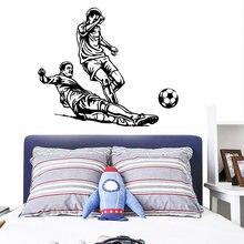Diy Наклейка для игры в футбол съемные настенные наклейки гостиной