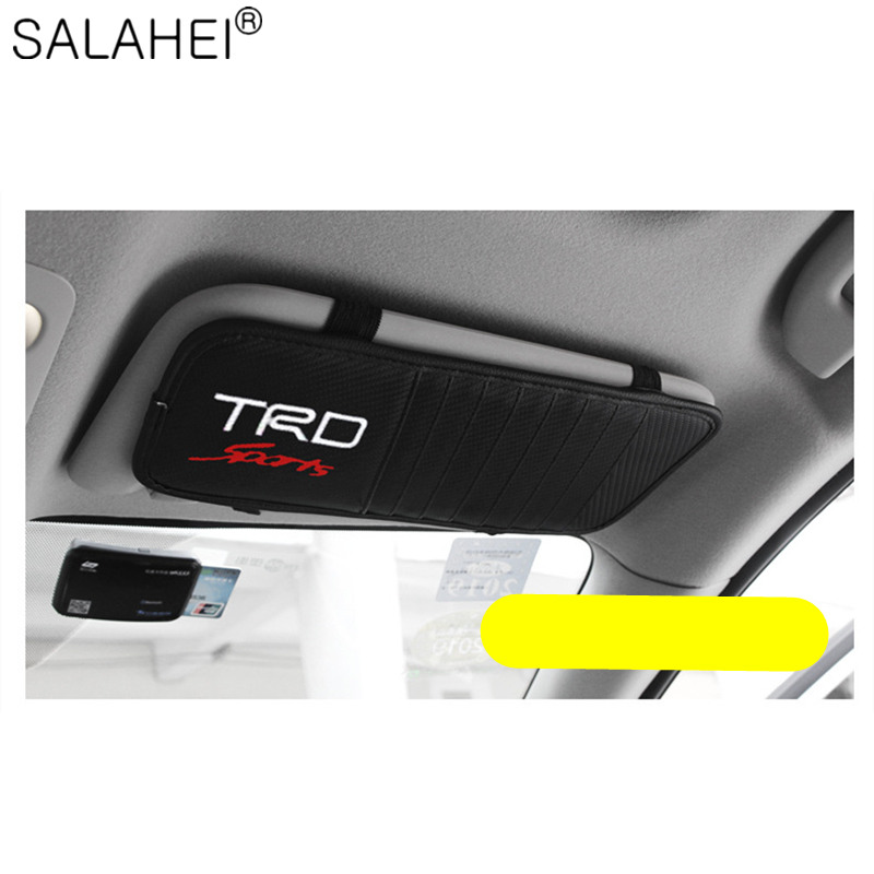 Car Sun Visor CD DVD Card Case For Toyota TRD hilux Corolla Camry RAV4 Car Interior Accessories Case Car CD Holder Case Type