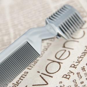 Image 5 - 1 pc escova de cabelo profissional pente navalha de corte de barbear desbaste pente trimmer pente com lâmina pentes ferramenta estilo do cabelo