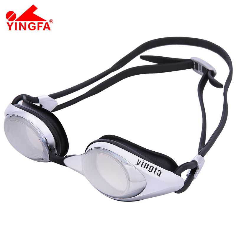 Yingfa for Both Men And Women Chrome Lens Reflective Swimming Goggles E810af (M) Waterproof Anti fog Swimming Goggles Safety Goggles     - title=