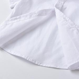 Image 4 - פעוט בגדי 2020 קיץ תלבושות עבור 1 7 שנות ילד בגדים לבן קצר שרוולים חולצה + חאקי מכנסיים חליפה סט בגדי ילדים