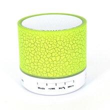 Беспроводной портативный Bluetooth динамик мини светодиодный музыкальный аудио TF USB FM стерео звук динамик для телефона и компьютера