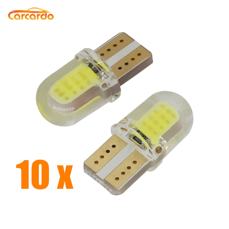 Carcardo T10 LED Light Car Bulb COB W5W Auto Clearance Lamp Silica Gel Marker Dome
