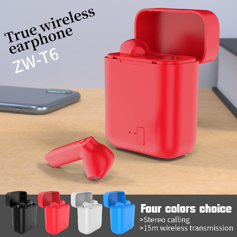 Ostart New ZW-T6 Mini TWS Bluetooth Headset Wireless earphones Sports headphones With microphone headset for Mobile phone 828